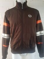VINTAGE SERGIO TACCHINI Track Top Retro 80's Casual Jacket M Brown