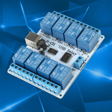 8 Channel 12v Type B Usb Relay Board Module Controller For Automation Robotics
