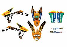 KTM GRAFICHE STICKERS DHL CRYSTAL EXC 2012 2013 SX 2011 2012 VARI ANNI E MODELLI