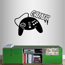 Vinyl Decal Gamer Controller Gaming Video Games Teen Boys Room Wall Sticker 1266