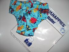 Aquanappies 3-6 months Floaties Boy Swimwear Fish Print Sea Life BN