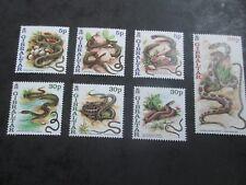 Gibraltar 2001 Año de la serpiente SG 960-966 estampillada sin montar o nunca montada