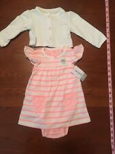 Carters Baby Girl 6 Month Coral And White Octopus Dress Bubble Nwt