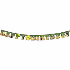 "Softball Happy Birthday Banner Large 7"" Cardboard Cutout Letters T2"