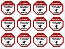 Alarm Warning Sticker, Home Security Vinyl Decal, Burglar House Security SignX12
