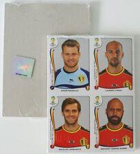 Panini 2014 Brazil Brasil WC World Cup BELGIUM EDITION Update Sticker Sheet Set
