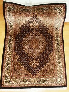 100%Echte Handgeknüpfte*PERSER+Teppich*Rug Tapies tappeto+Top+zustand+mit Seide