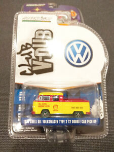 GREENLIGHT 1/64 CHASE GREEN 1976 SHELL OIL VOLKSWAGEN TYPE 2 T2 DOUBLE CAB
