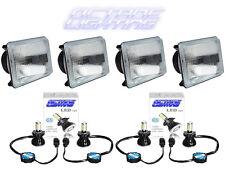 4X6 CREE 4000Lm LED Semi Sealed Stock Glass H4 Headlight Headlamp Light Bulb Set