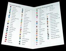 One Swarovski Color Charts using genuine 5301 Bicone beads 84 Colors