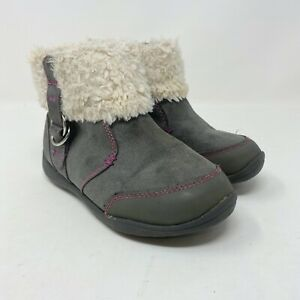 Girls Ankle booties Surprize by Stride Rite Delrae Gray Size 10