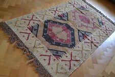 Kilim Rug Indian Jute Wool Hand Knotted Geometric 90x150cm 3x5ft