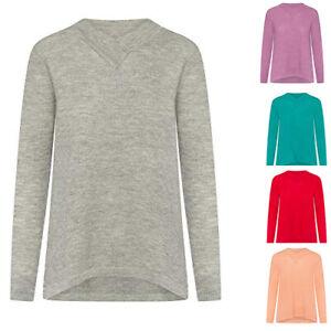 Damen Feinstrick-Pullover Sweatshirt-Pullover Oversized & Sexy Bluse Shirt
