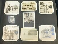 Vintage Photo Album WWII Military Service 12 pages 93 Photos 1940's