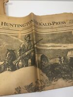 Vintage Lot Newspapers 1930's Huntington Press Huntington Indiana