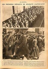 USA Sammies Régiment Infanterie Train New-York/ As Pilotes WWI 1917 ILLUSTRATION