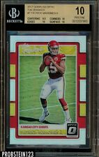 2017 Donruss Optic The Rookies Prizm #7 Patrick Mahomes RC Rookie BGS 10