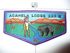 OA Acahela Lodge 223,S-1,1980s,First Solid Flap,BLK Bear,191,542,Pennsylvania,PA