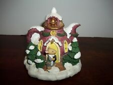 Vintage - Miniature Teapot House With Mouse - Lights Up - Christmas