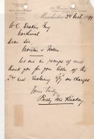 Batty Ford & Buckley Solicitors Manchester 1899 Receipt For Sum Paid Ref 36033