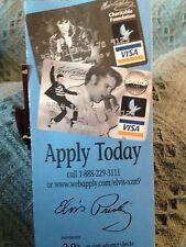 NOS ELVIS 2001 MBNA BANK ELVIS PRESLEY VISA APPLICATION BROCHURE