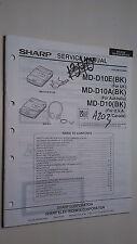 Sharp md-d10 a e service manual original repair book stereo minidisk player