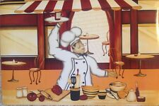 """Placemats French Chef New Set of Four 12"""" X 18"""" Vinyl"""