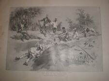 War in the Philippines burial in a trench by C E Fripp 1899 print ref G