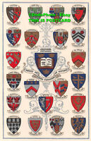 R443660 Oxford University. Arms of the Colleges of Oxford. Postcard