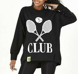 Oversize Pullover Pulli Shirt Sweatshirt Tunika  38 40 42 44 46 Schwarz P818