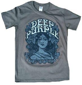 Rare Unworn Official DEEP PURPLE Woman Flower Power Rock Star T-Shirt S M L XXL