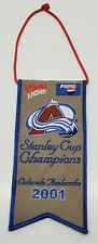 Colorado Avalanche 2001 Stanley Cup Champions Mini Banner Pennant Coors Pepsi