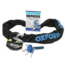 OXFORD NEMESIS CHAIN & DISC LOCK  MOTORBIKE 1.5m OF331 SOLD SECURE THATCHAM
