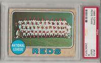 1968 TOPPS #574 REDS TEAM CARD , PSA 9 MINT, SET BREAK- JOHNNY BENCH, PETE ROSE