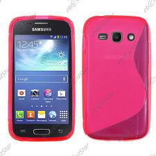 Housse Etui Coque Silicone Motif S-line Gel Rose Samsung Galaxy Ace 3 S7270