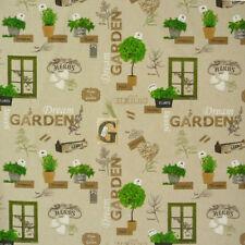 Dekostoff Natur Garten Sträucher Fenster