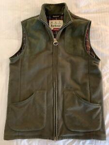 Men's Barbour Dunmoor Gilet Vest Olive Green Size L MSRP $139