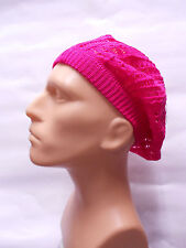 pink man boy classic Fashion Crochet Beanie Hat Knit Beret Skull Cap hat