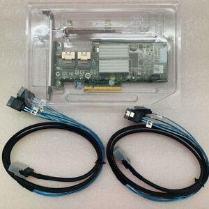 Dell U039M PERC H200 PCI-e 6Gb/s SAS/SATA RAID Controller Card +2PCS 8087 SATA