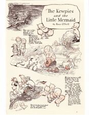 ROSE O'NEILL 1917 Kewpies ILLUSTRATED STORY Little MERMAID 3 Page Vtg REPRINT