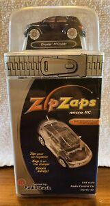 Zip Zap Micro RC Car radio Shack Chrysler PT Cruiser  Blue 1/64 scale NIP