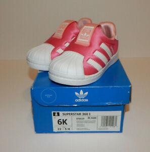 Adidas Originals Infant Superstar 360 Glopink Slip On Shoes Size 6K NIB