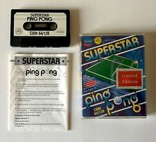 SUPERSTAR PING PONG - Limited Edition 1986 - game Commodore 64 128 VERY RARE!