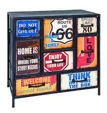 American 50s Diner Furniture Metal Sideboard Retro Route 66 Storage Unit