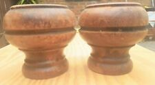 Vintage Wooden Feet Finials Posts Decorative Pair 2