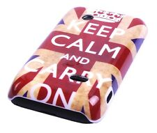 Schutzhülle f Sony Xperia tipo ST21i Tasche Case Cover England GB keep calm