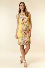 Wallis Lemon Floral Print Shift Dress Last  Size 12