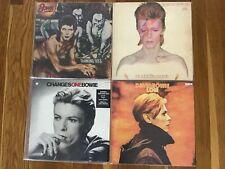 David Bowie lot of 4 LP's, Low, Aladdin Sane, Diamond Dogs, Changes One, VG+ RCA