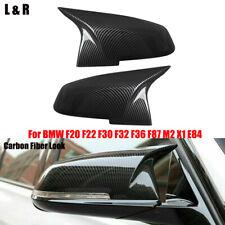 Carbon Fiber Look Mirror Cover For BMW F20 F22 F30 F32 F36 F87 M2 X1 E84 12-16