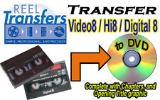 REEL TRANSFERS - Convert Video8/Hi8/Digital8  to DVD     Broadcast Quality!